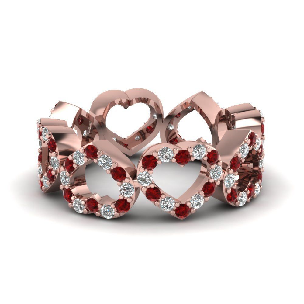 Eternity Wedding Band With Ruby