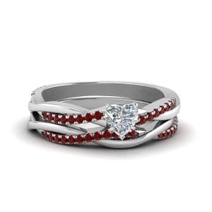 Ruby Twisted Vine Wedding Set