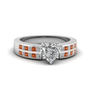 Channel 2 Row Diamond Ring
