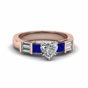 Womens Heart Diamond Ring