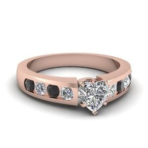 Heart Shaped Channel Set Engagement Ring