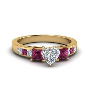 Channel Pink Sapphire Ring