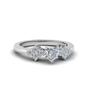 Cluster Accent Diamond Ring