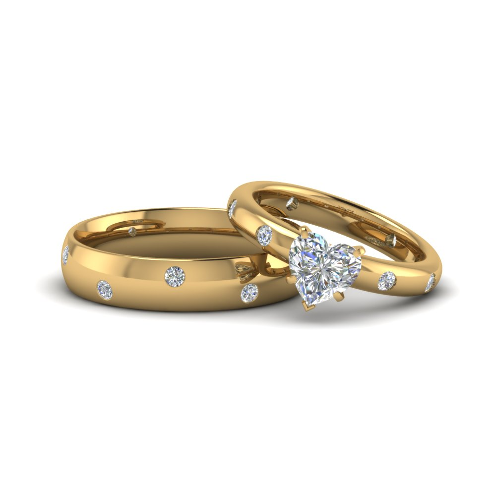 Heart Shaped Matching Promise Couples Ring