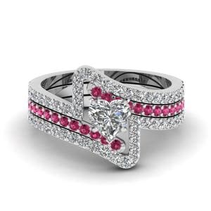 Crossover Trio Wedding Ring Set