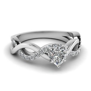 Infinity Heart Cut Diamond Ring