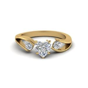 Tension Set Engagement Ring
