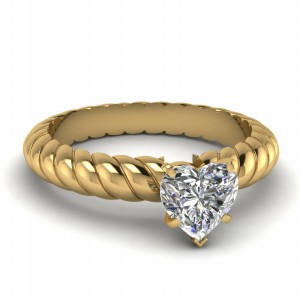 Heart Shaped Solitaire Ring