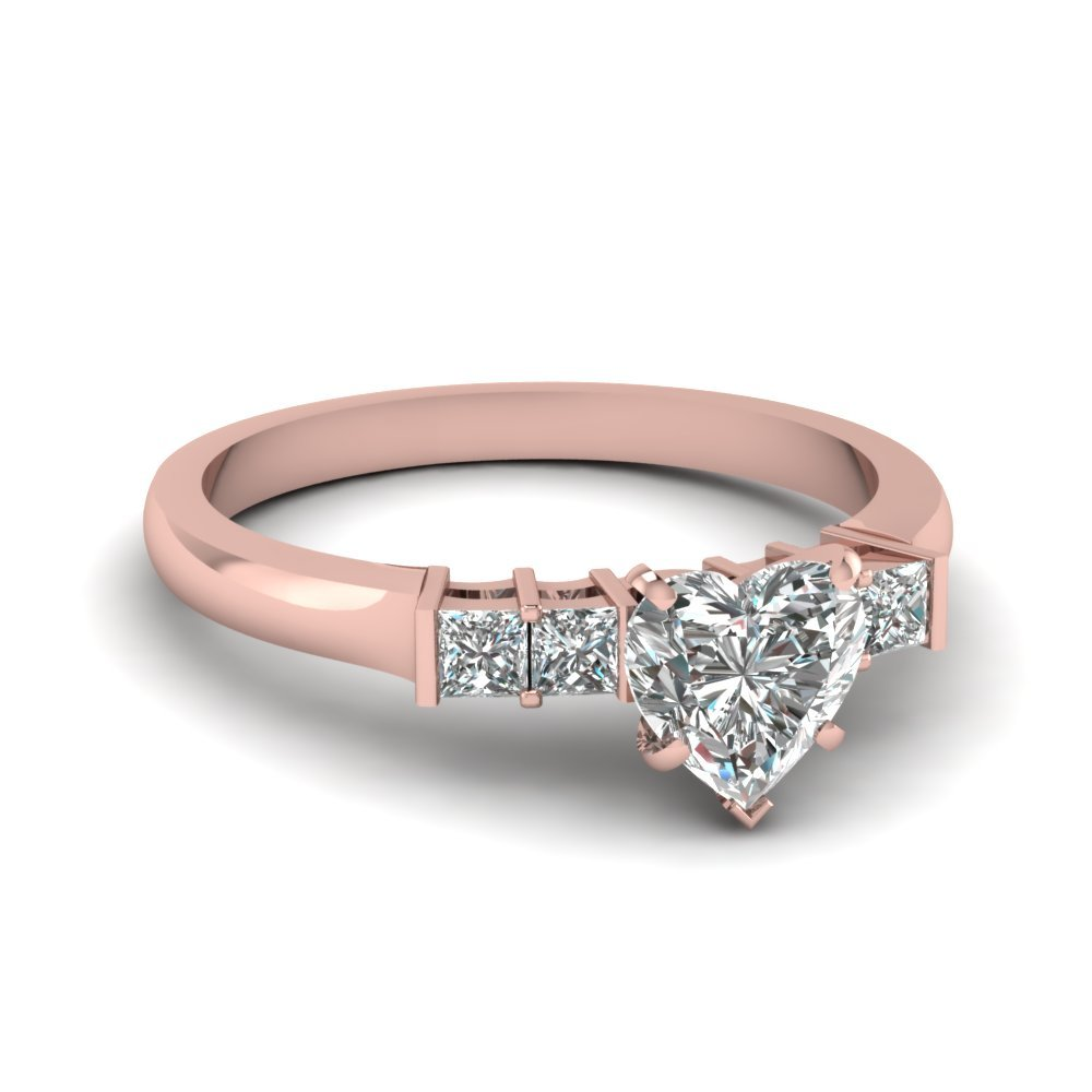 Heart Shaped Rose Gold Ring