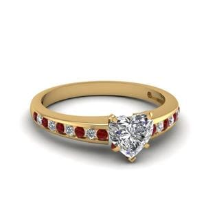 Channel Set Ruby Engagement Ring