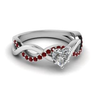 Heart Shaped Infinity Wedding Ring