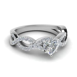 Diamond Infinity Wedding Ring