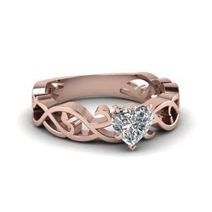 Heart Shaped Solitaire Filigree Ring