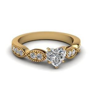 Matching Art Deco Milgrain Diamond Ring