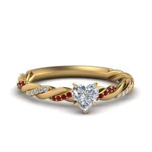 Twisted Band Ruby Ring