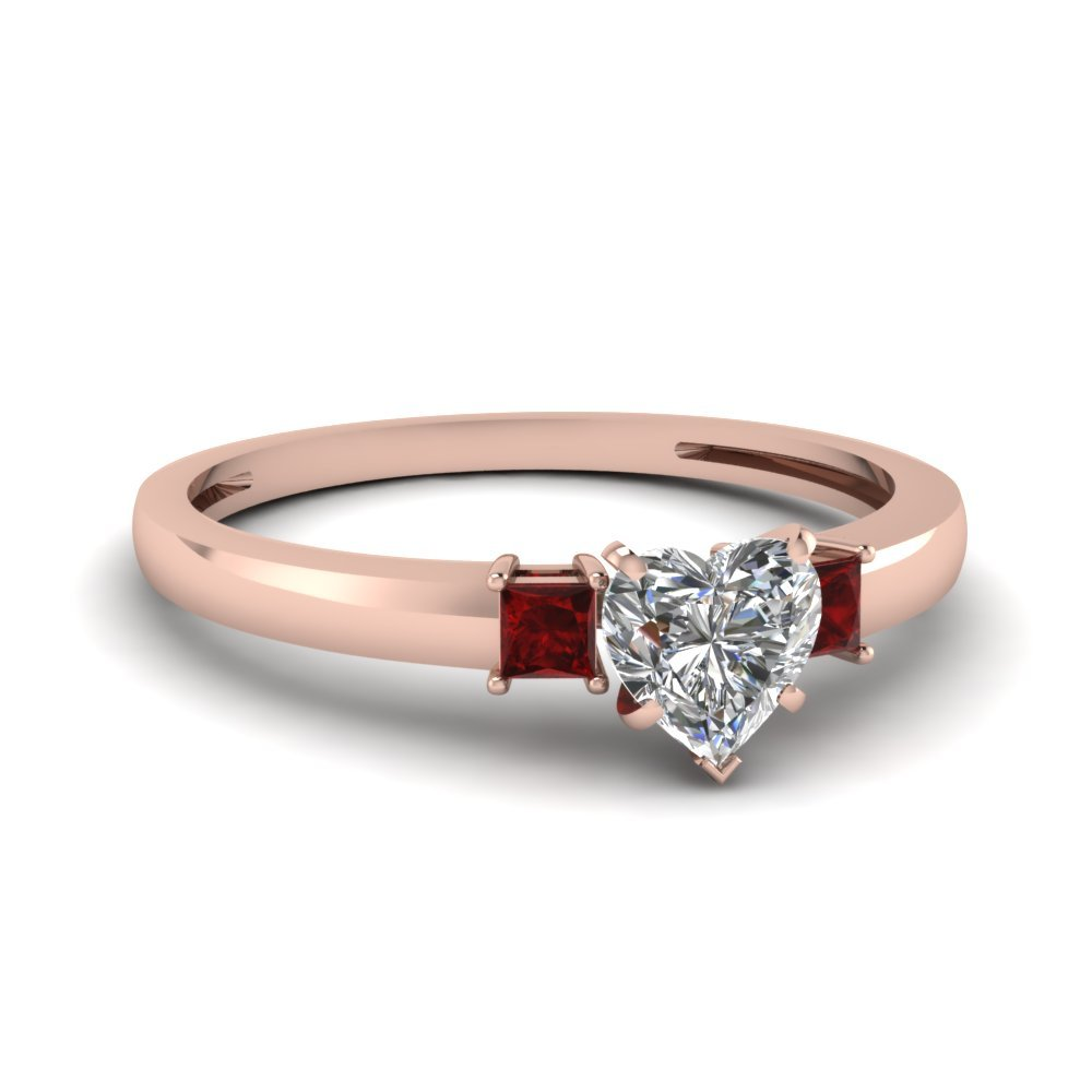 Rose Gold Ruby Wedding Ring