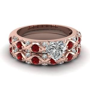 Ruby Engagement Ring And Band