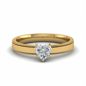 Heart Diamond 18k Gold Ring