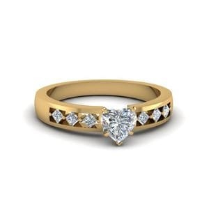 7 Stone Gold Diamond Ring