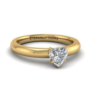 Classic Heart Diamond Solitaire Ring