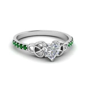 Petite Celtic Emerald Ring
