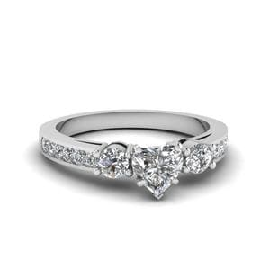 Channel 3 Stone Diamond Ring