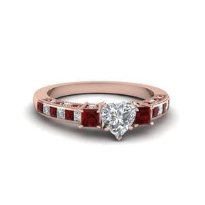 Ruby Heart Shaped Ring