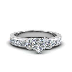 Perfect Match (0.70 Carat Three Stone Diamond Band)