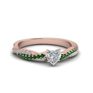 Heart Diamond Twisted Ring