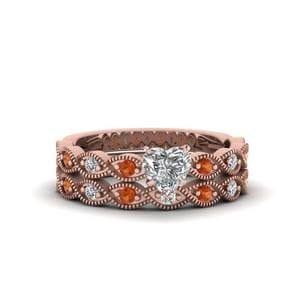 Heart Diamond Ring And Band