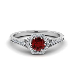 Ruby Engagement Rings For Her