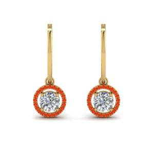 Orange Topaz Drop Earring