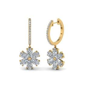 Floral Pear Drop Earring