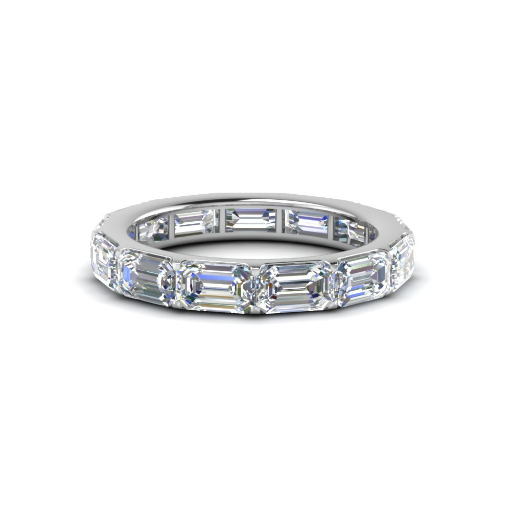Emerald Cut Diamond mom Eternity Band