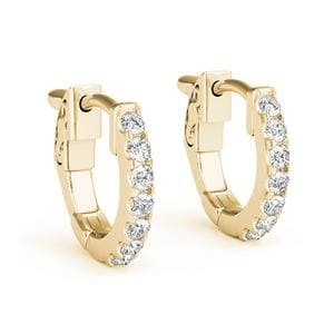 Huggie Hoop Earring 18K Yellow Gold