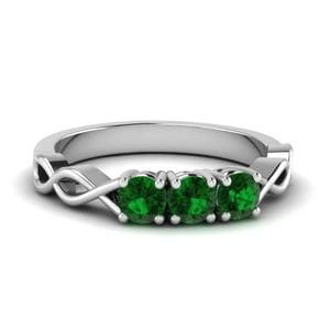 Infinity Emerald Wedding Band