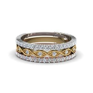 Infinity Diamond Stackable Band