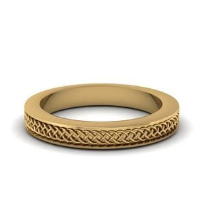 Infinity Gold Wedding Mens Band Ring In 14K Yellow Gold
