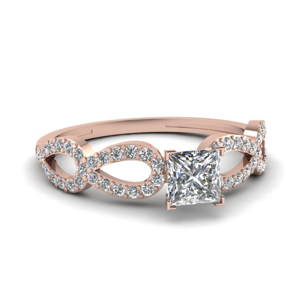 Infinity Loop Princess Diamond  Ring