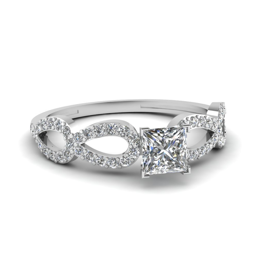 Infinity Loop Princess Twist Diamond Ring