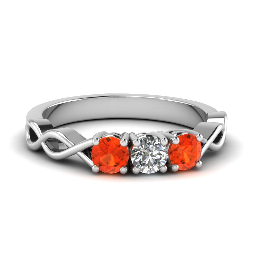 Orange Topaz Infinity Ring