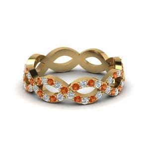 Orange Sapphire Eternity Ring