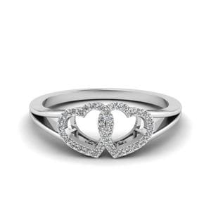 Interlinked Heart Design Ring