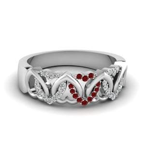 Platinum Ruby Wedding Band