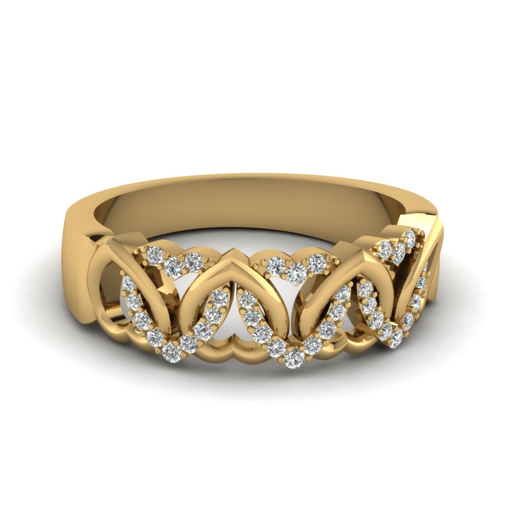 Interweaved Heart Design Wedding Band