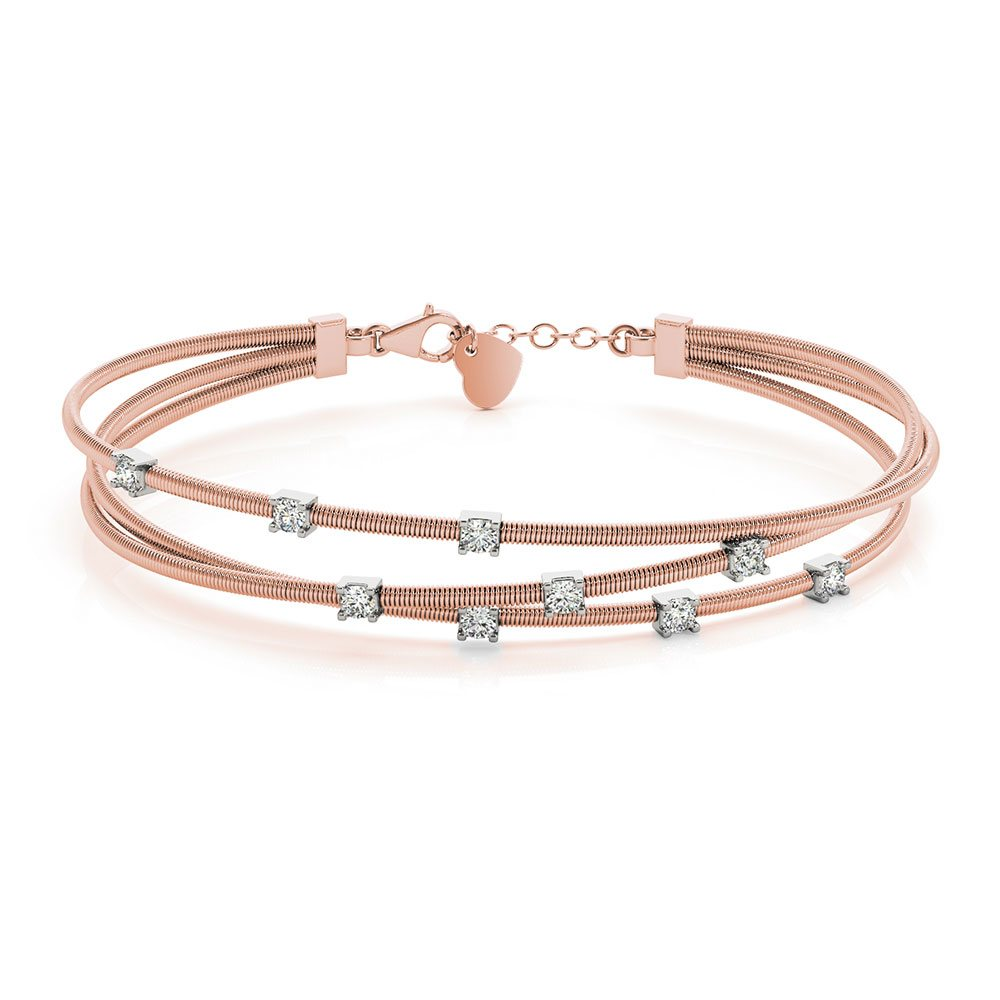 18K Rose Gold Italian Design Bracelet
