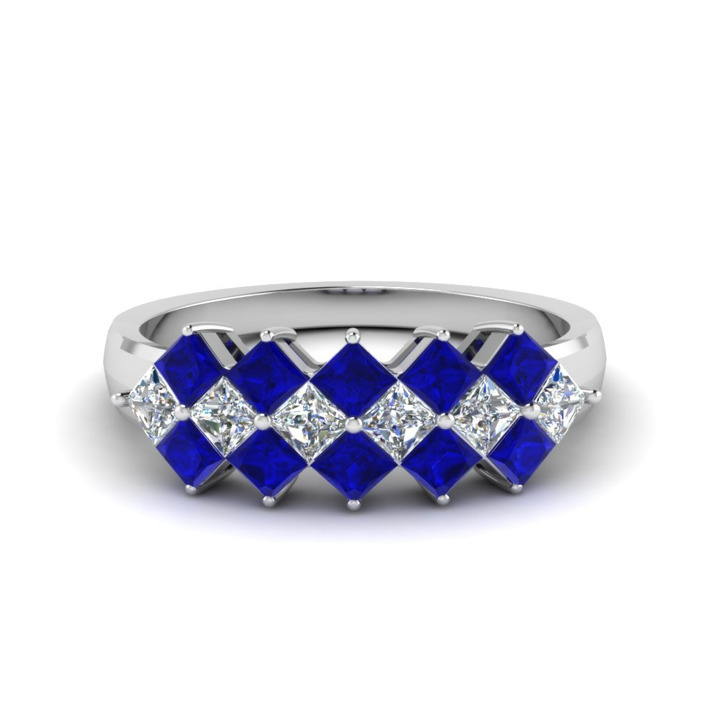 kite set princess cut sapphire band