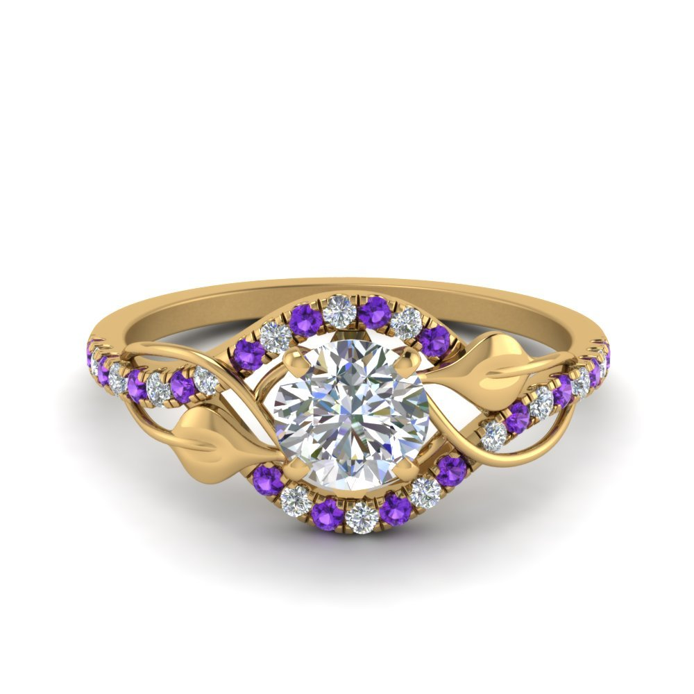 Purple Topaz Vintage Engagement Ring