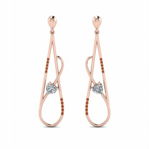 Long Open Teardrop Drop Earrings