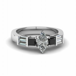 Diamond Marquise Anniversary Ring